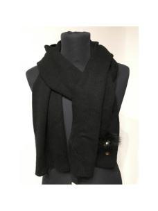 liujo sciarpa nera con applicazioni  N68254M0300