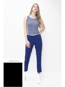 KONTATTO pantalone chino donna nero/black TT7003-1
