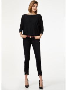 jeans skinny con pizzo U69001D4370
