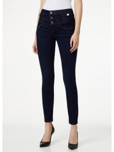 LIU JO jeans skinny Bottom Up vita alta con bottoni U69014D4376