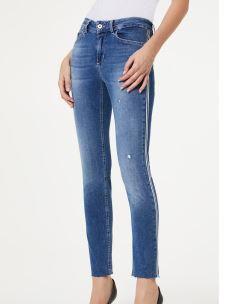 LIU JO jeans bottom up con banda laterale UA0035D4448