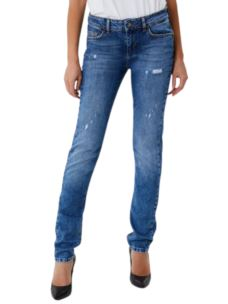 Jeans Bottom Up stretch con borchie applicate UF0016D3105
