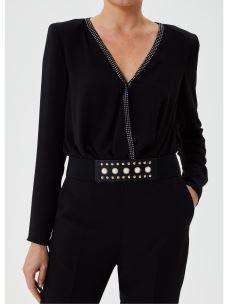Cintura elastica con perle applicate UF0091T0300