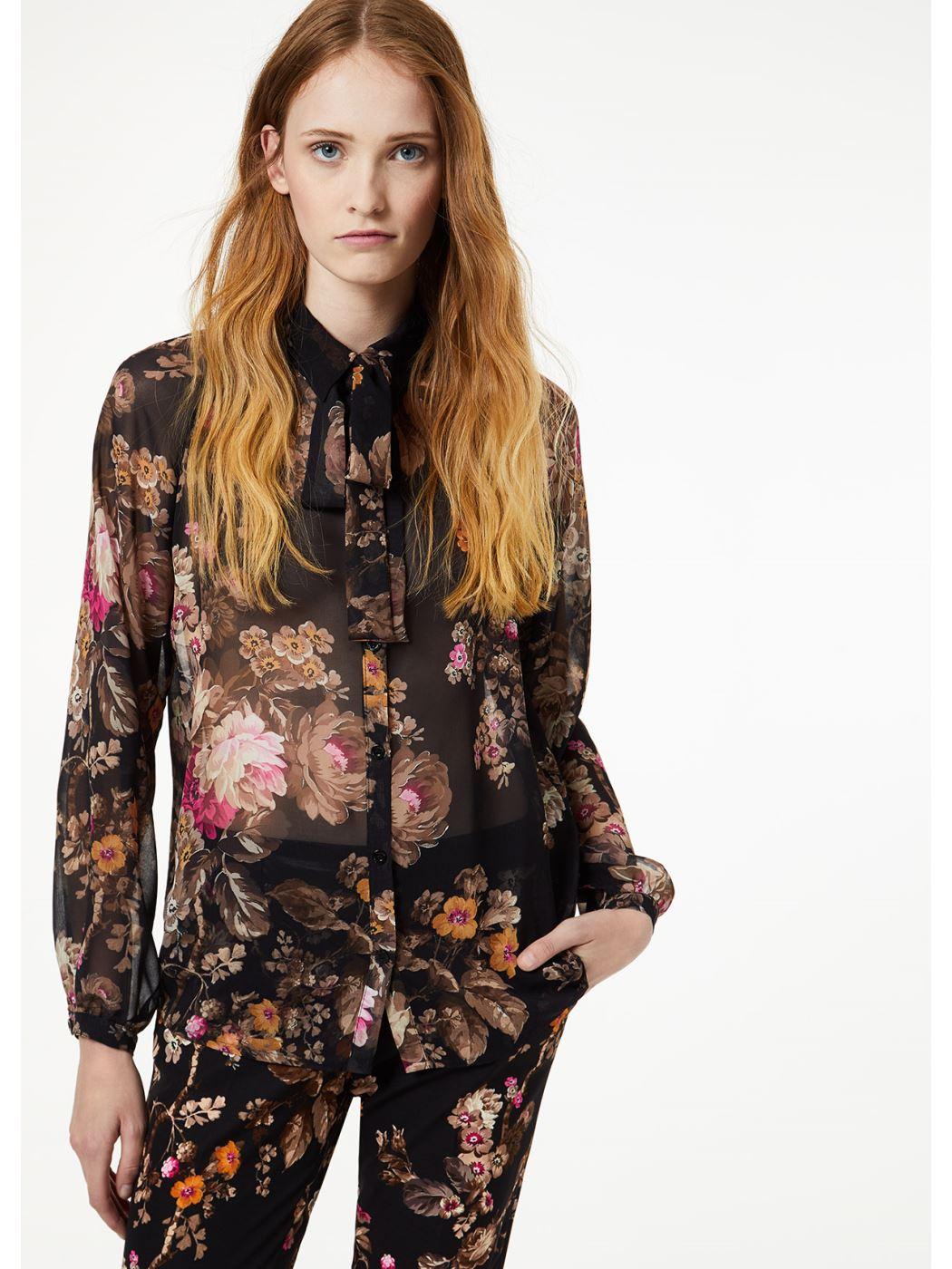 LIU JO Camicia in georgette stampata  W69018T0110