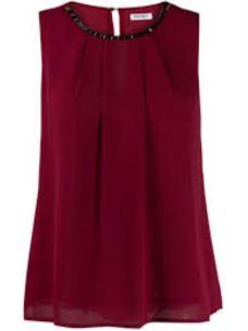 LIU JO top rosso con applicazioni gioiello W69054T5614-2