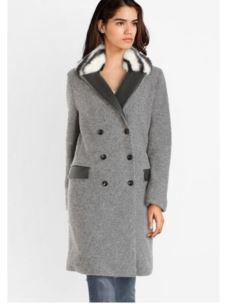 Liujo cappotto con collo in pelliccia  W69057T4082