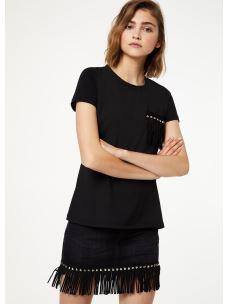 Liujo t-shirt taschino con frange W69239J5744-1