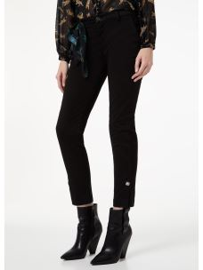 Liujo pantalone chino in raso con applicazione W69259T8191