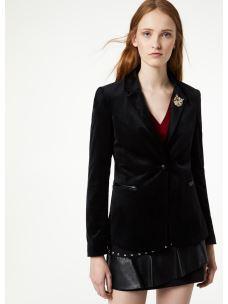liujo blazer in velluto W69268T0173-1