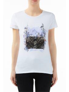 liujo t shirt con stampa  W69393J5003
