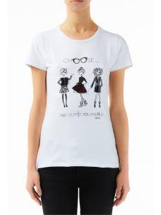 liujo t shirt moda W69398J5003