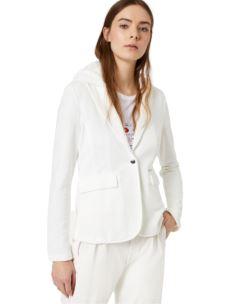 LIUJO Giacca in felpa bianco lana WA0087F0583