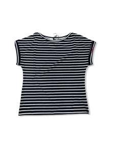 LIUJO T-shirt scollo a barca a righe WA0302J5887