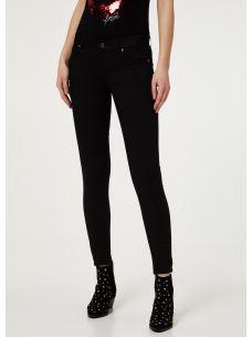LIU JO Pantalone Bottom up nero realizzato in twill  WXX051T7144