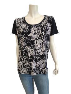 T-Shirt Donna Fantasia Fiori C638