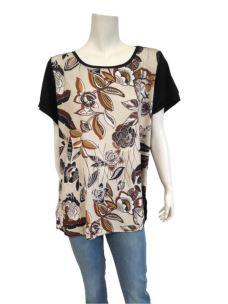 T-Shirt Donna Con Stampa Manica Corta C677