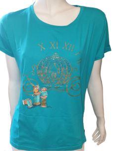 T-Shirt Donna Maglia Girocollo Manica Corta Con Stampa T620